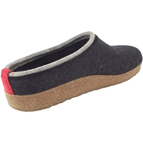 Haflinger Kris Grizzly, Chaussons Mules Homme Gris (Graphit 277)