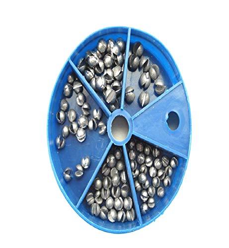 DEESEE(TM)- Angelei Egg Bullet Rig Sinkers Angling Lead Weight Split Shot Box (Schnuller Motion)