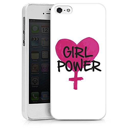 Apple iPhone X Silikon Hülle Case Schutzhülle Mädchen Girl Herz Hard Case weiß