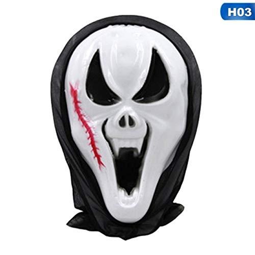 Face 4 Kind Kostüm Ghost Scream - WULIHONG-MaskeScary Black Blooding Ghost Maske Cosplay Halloween Kostüme Party Prop Kostüm Zubehör Party Cosplay Masken3
