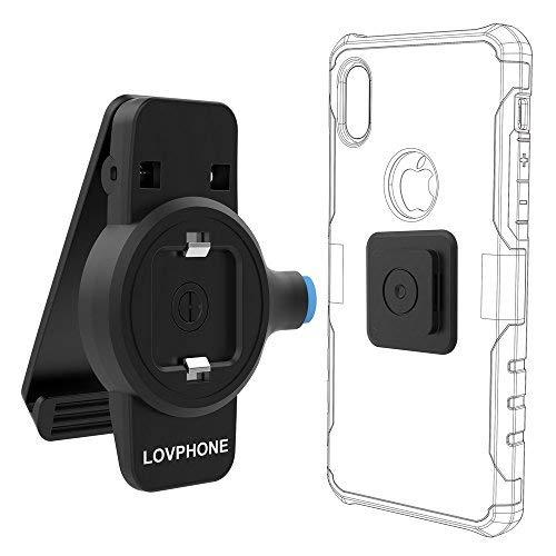 Handy Gürtel Clip, lovphone Universal-Halter mit Magnetisch Quick Mount für Handys & Cases, iPhone X/8/8Plus/7/7Plus, iPhone/6S/6Plus, Android Smartphones Handy-clip-fall