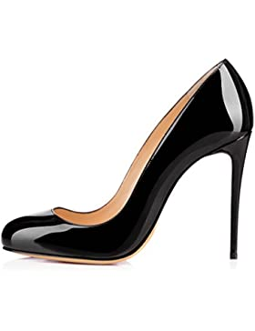 ELASHE- Scarpe da Donna - Scarpe col Tacco - Classiche Scarpe col Tacco - 10cm Round Toe Heels
