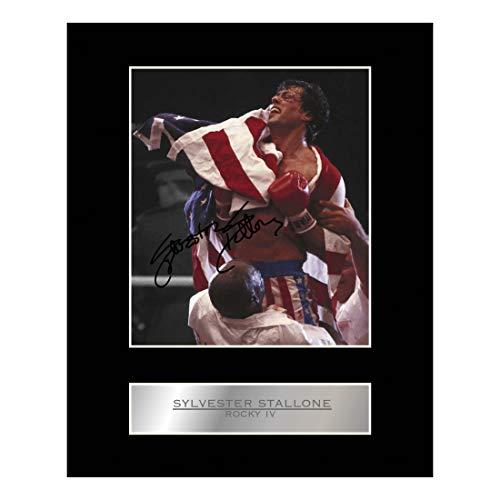 Sylvester Stallone Photo dédicacée encadrée Rocky IV # 01