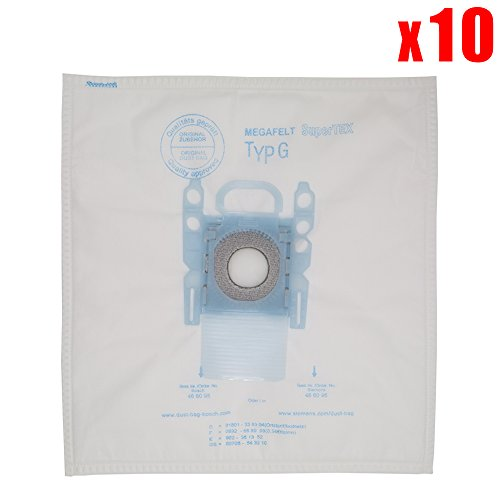 YanBan - 10 bolsas de polvo para aspiradora Bosch de microfibra tipo G GXXL GXL MegaAir SuperTex BBZ41FGXXL