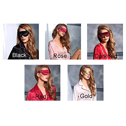 GUGUKII Augenmaske Cucommax Duplex 100% Naturseide Schlafaugenmaske Sexy Fox Eye Shade Schlafmaske Black Mask Bandage Auf Augen Zum Schlafen Msk43 -