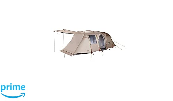 bc3af5f2b45 Jack Wolfskin Travel Lodge RT family tent beige camp tent: Amazon.co.uk:  Sports & Outdoors