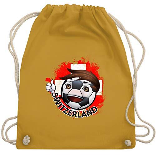 Fußball-Europameisterschaft 2020 - Fußballjunge Schweiz - Unisize - Senfgelb - WM110 - Turnbeutel & Gym Bag