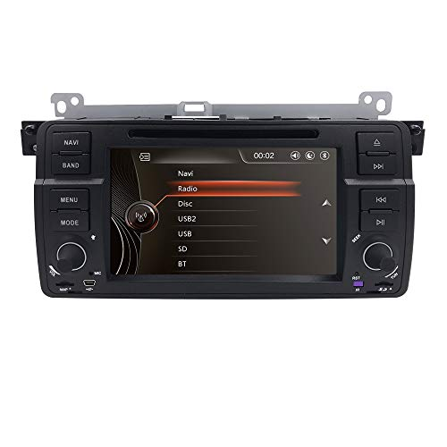 hizpo Single Din 7 inch In Dash Multimedia Headunit HD Touchscreen Car DVD Player GPS Navi Stereo Steering Wheel Control Bluetooth SD USB Radio AV-IN 1080P - Av-single