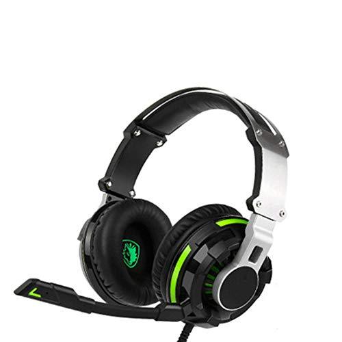 Gaming Headset mit Mikrofon für Xbox One, PS4, Nintendo Switch, PC - Surround Sound, Headset für Mobiltelefon Apple Computer Musik - Headset mit FPS, Memory Foam Ear Pads Observation System