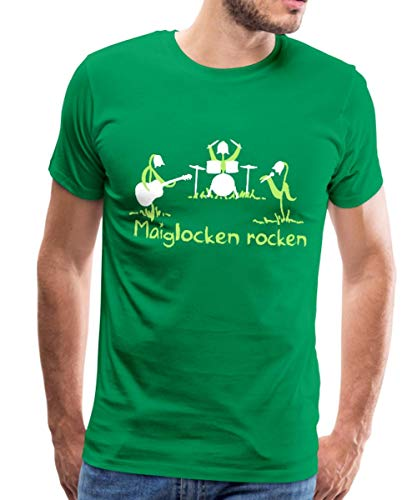 Spreadshirt Maiglocken Rocken Maiglöckchen Männer Premium T-Shirt, 5XL, Kelly Green Kelly Green Band