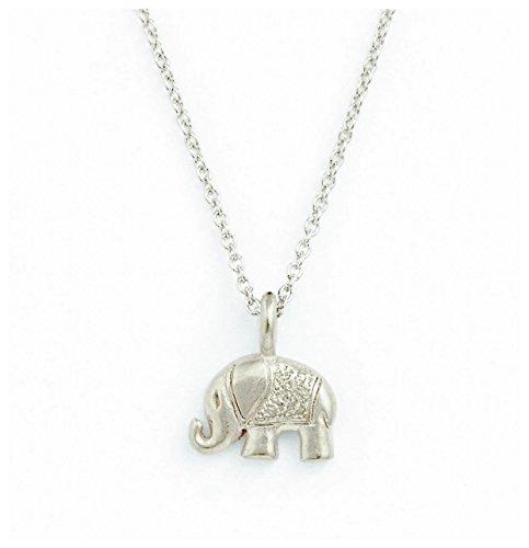Collar de plata de ley ISZIE con colgante de bebé elefante para mujer