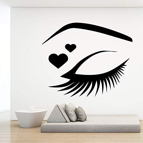 BailongXiao Kreative schöne Augen wandaufkleber Tierliebhaber Dekoration zubehör Dekoration Wohnzimmer Schlafzimmer abnehmbare wandkunst Aufkleber 54x64 cm