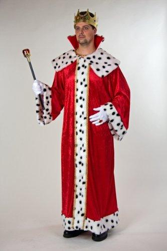 König Robe Und Krone Für Erwachsene Kostüm - Festartikel Müller Herren Kostüm König Königsmantel