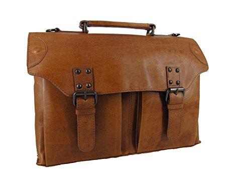 LANDLEDER Leder Umhängetasche Messenger Bag Laptoptasche Aktentasche Arbeitstasche verschiedene Modelle --präsentiert von RabamtaGO®-- (M2) (Eco-friendly Messenger)