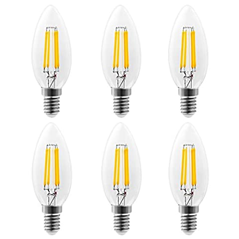 ARVIDSSON E14 C35 Filament LED 4W Candle Light bulbs 40W