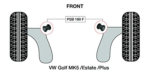 PSB polyuréthane Bush MK5/Break/Plus (2003-2009) Avant Bras de Wishbone avant bushing kit - PSB 160 F