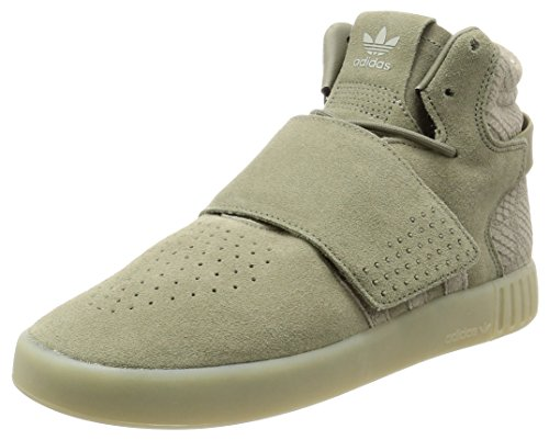 adidas Unisex-Erwachsene Tubular Invader Strap Hohe Sneaker, Beige Grün (Trace Cargo/trace Cargo/sesame)