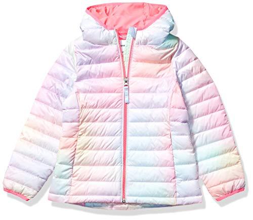Amazon Essentials Hooded Puffer Jacket Outerwear-Jackets, Rosa Degradado, Medium