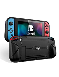 UGREEN Protective Case for Nintendo Switch, Grip Case TPU Cover Protector Accessories with Shock-Absorption Design (Black)