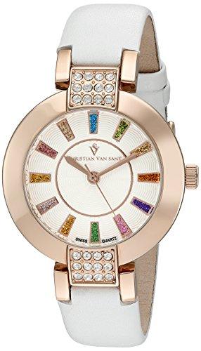 christian-van-sant-femme-cv0442-celine-affichage-analogique-swiss-quartz-blanc-montre