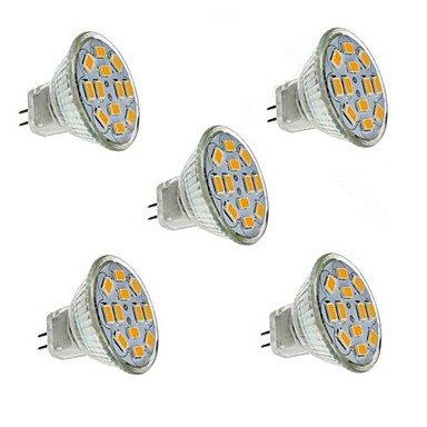 5W GU 4 (MR 11) Spotlight MR11 12 SMD5730 560lm Warm Weiß Dekorative DC 12V 5 Stück LED - Dc Bajonett-halogen-glühlampe