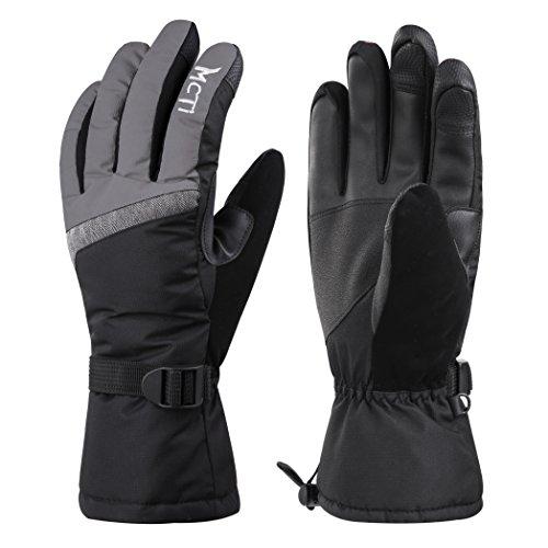 Anti-handschuh (MCTi Skihandschuhe Winterhandschuhe Damen Warm Wasserdicht Touchscreen Handschuhe Thermo Thinsulate mit Anti-verloren Handschlaufe)