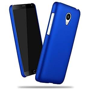 SDO™ Slim Matte Finish Rubberized Hard Back Case Cover for Meizu M3 Note (Blue)