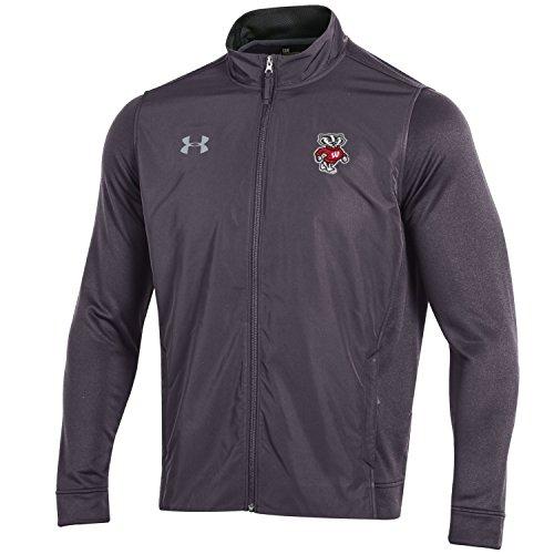 Under Armour NCAA Herren Tech Terry Full Zip Jacke, Herren, Tech Terry Full-Zip Jacket, Grau meliert, Medium Terry Zip Jacket