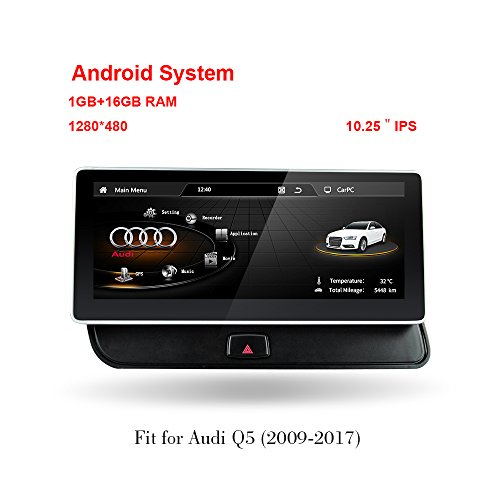 freeauto Audi Q5 2009–2017 26 cm Bildschirm Android 4.4 Auto Audi GPS Navigation System Radio Player Media Stereo (Igo-software)