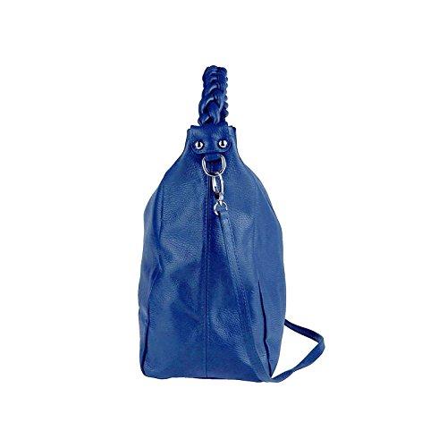 Made Italy , Cabas pour femme 50x34x16 cm Bleu - Königsblau