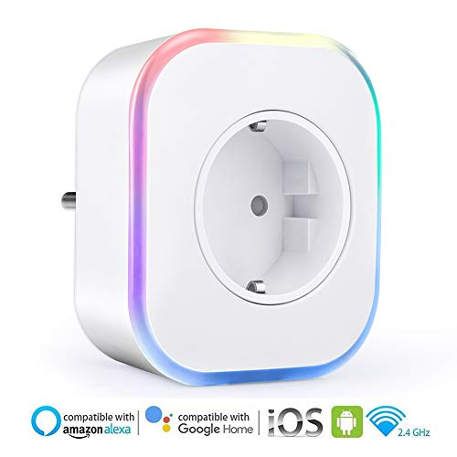 Enchufe Inteligente Wifi, ARINO Enchufes Inalámbricos Inteligentes con USB, Control Remoto/Mando de...