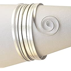 Vaessen Creative - Hilo de aluminio (para joyería, 5 x 1 mm x 5 m, plano)
