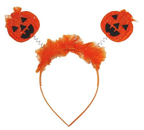Petitebelle Orange Double Pumpkin Headband Kid Halloween Dress up Accessory (One Size)
