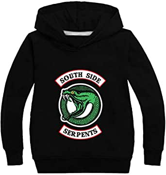 OLIPHEE Girls Spring Fashion Blouse Top Long Sleeve Hoodies Inspired Riverdale Jughead Jones Southside Serpents