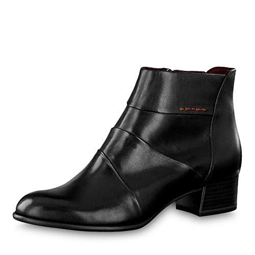 Tamaris Damen Stiefeletten 25366-23, Frauen Ankle Boots, Freizeit Stiefel halbstiefel Stiefelette Bootie knöchelhoch Damen Lady,Black,38 EU / 5 UK