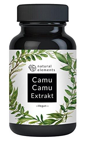 Camu-Camu Kapseln - Natürliches Vitamin C - 120 vegane Kapseln im 4 Monatsvorrat - Ohne unerwünschte Zusätze – Laborgeprüft und hergestellt in Deutschland
