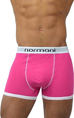 6 x normani® Herren Style Boxershorts aus Baumwolle mit Elasthan im 6er Pack Retro Rosa
