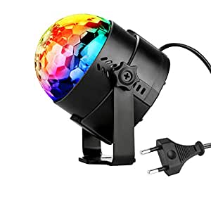 alviller discokugel led party lampe christmas partylicht disco lichteffekte 7 farbe rgb 360. Black Bedroom Furniture Sets. Home Design Ideas