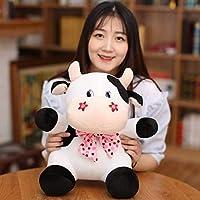 HJLHFD Cute Little Cow Plush Toy Stuffed Soft Kawaii Animal Cattle Baby Dolls Birthday Gift For Children Girls Cuddly Toys 25Cm