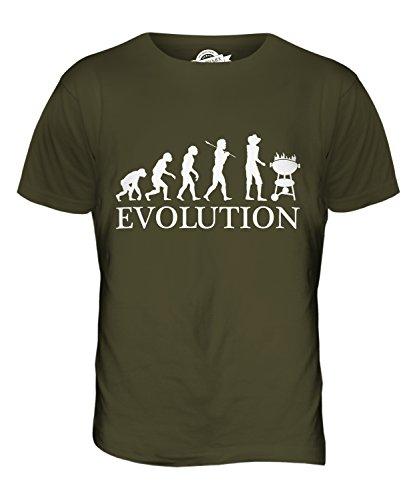 CandyMix Barbecue Grill Evolution Des Menschen Herren T Shirt Khaki Grün