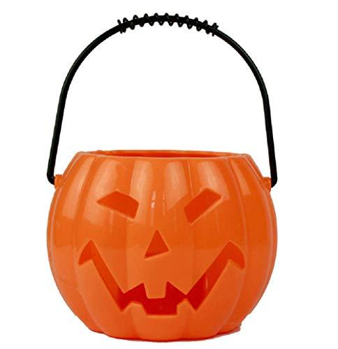 CSDM.AI Tragbare Kürbis Laterne Bar Mall Layout Requisiten Horror-Lachen Glanz Halloween Dekoration 15Cm