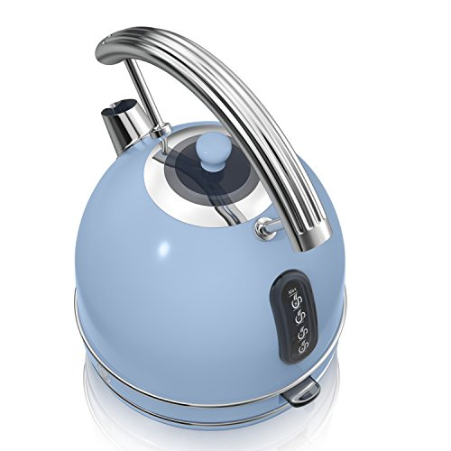 Swan SK34020BLN Retro Dome Kettle, 1.7 Litre, Duck Egg Blue