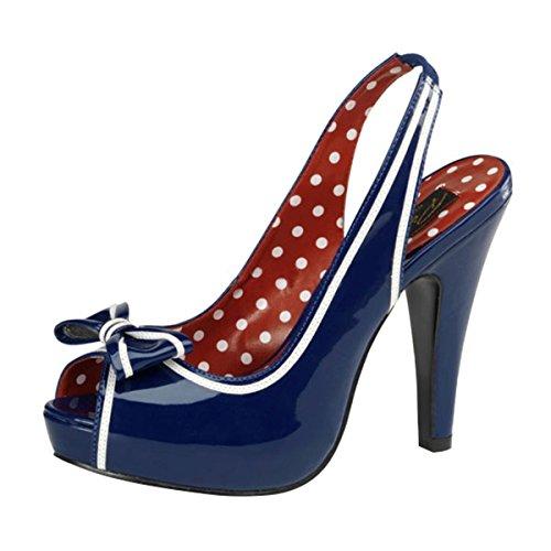Slingback Sandalette blau Mehrfarbig