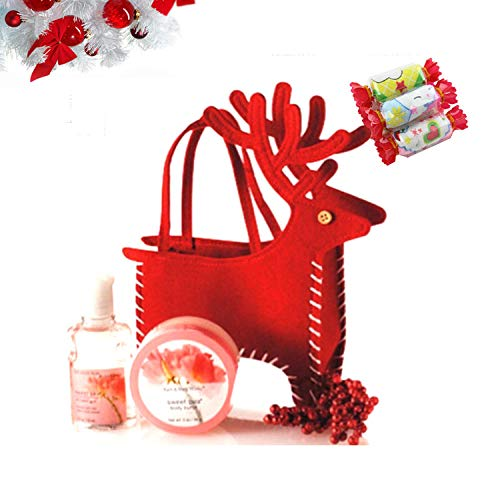 Calcetín de Navidad Bolsa Santa Deer Candy Bag Decoraciones navideñas para el hogar Merry Bags Decoración Cosmetics Bag Photo Props@20x15.5cm