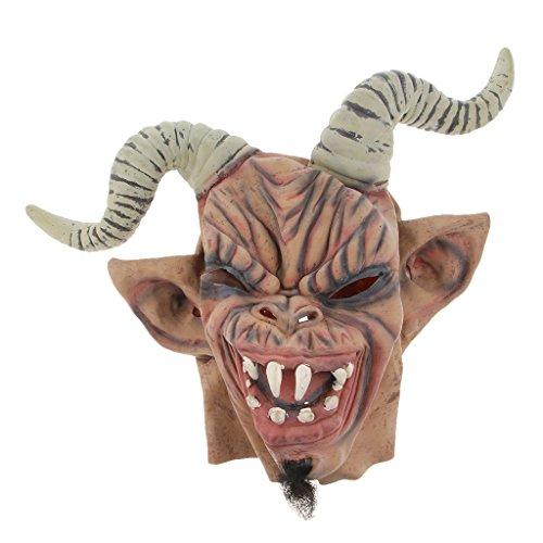 SunniMix Horror Halloween Party Latex Rot Mund Zombie Gesichtsmaske Kostüm - Schaf Corner Warcraft
