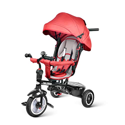 Besrey Triciclo Bambini 7 in 1 Triciclo con Maniglione Triciclo a Spinta Triciclo Passeggino con Seggiolino Rversibile da 6 Mesi...