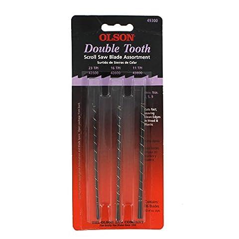 Olson SA4930 36-Double/ Tooth Scroll Saw Blades