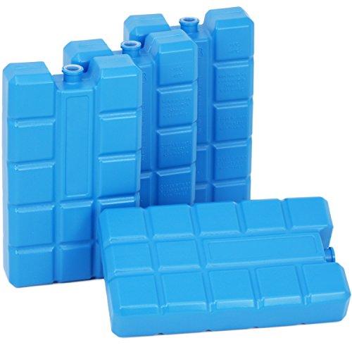com-four® 4-Pack Big Pack baterías Recargables, Cada 400 ml, Azul - para...