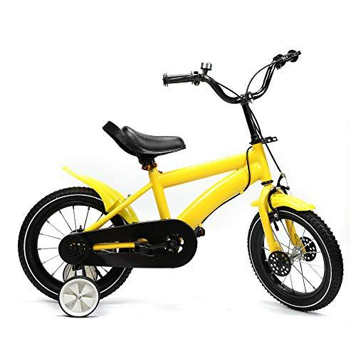 SHIOUCY 14 Zoll Kinderfahrrad Jungen Jungenfahrrad Mädchenfahrrad Kinder Kinderrad Fahrrad Rad Bike (Gelb)