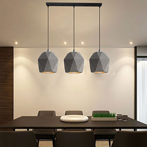 BESPD Modernes, minimalistisches Kreative Gemischter Schlamm Diamond Kronleuchter Deckenlampe Pendelleuchte Restaurant Three-Length 55 cm Decken LED Schlamm-ring